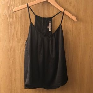 Cute black tank with gold button detail